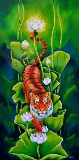 """Tiger and the Lotus """"Lucky"""""""